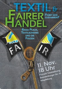 fairtrade textil flyer - Magdeburg